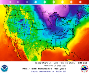 Weather Continental US And Regional Temperature Maps - Us weather temperature map